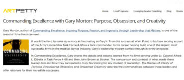 Commanding Excellence with Gary Morton: Purpose, Obsession, and Creativity