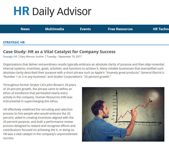 Case Study: HR as a Vital Catalyst for Company Success
