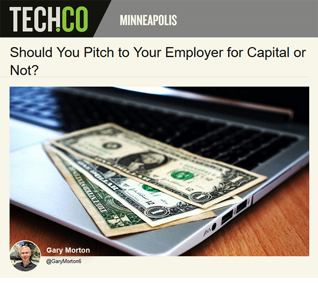 Should You Pitch to Your Employer for Capital or Not?