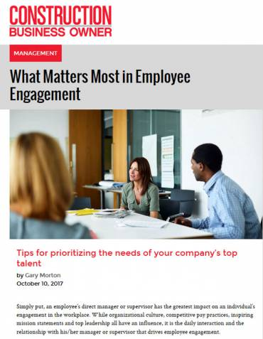 What Matters Most in Employee Engagement