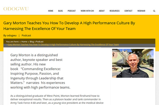 Gary Morton Teaches You How To Develop A High Performance Culture By Harnessing The Excellence Of Your Team