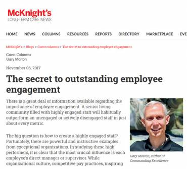 The secret to outstanding employee engagement