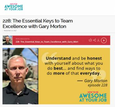The Essential Keys to Team Excellence with Gary Morton