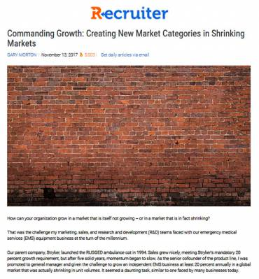 Commanding Growth: Creating New Market Categories in Shrinking Markets