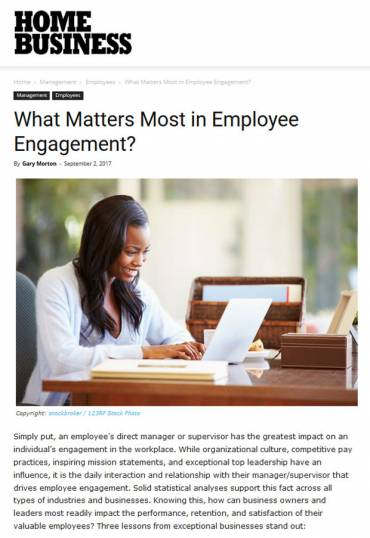 What Matters Most in Employee Engagement?